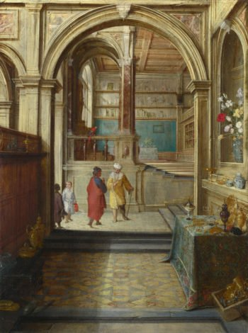 Croesus and Solon | Hendrick van Steenwyck the Younger | oil painting