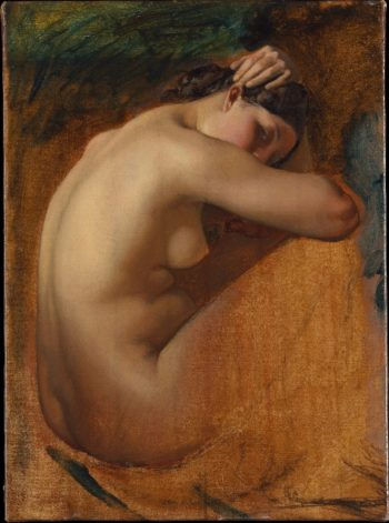 Study of a Female Nude (1840) | Henri Lehmann | oil painting