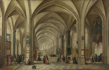 The Interior of a Gothic Church looking East (1) | Hendrick van Steenwyck the Younger and Jan Brueghel the Elder | oil painting