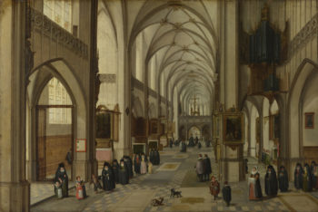 The Interior of a Gothic Church looking East | Hendrick van Steenwyck the Younger and Jan Brueghel the Elder | oil painting
