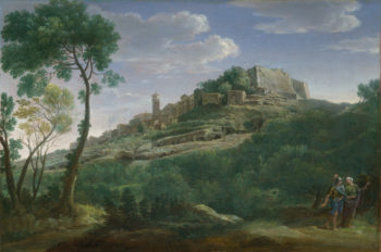 A Landscape with an Italian Hill Town | Hendrik Frans van Lint | oil painting