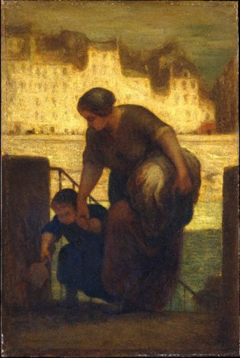 The Laundress (1863) | Honore Daumier | oil painting