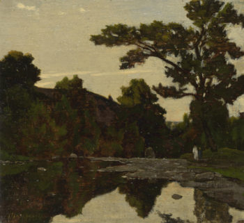 A River Scene | Henri-Joseph Harpignies | oil painting