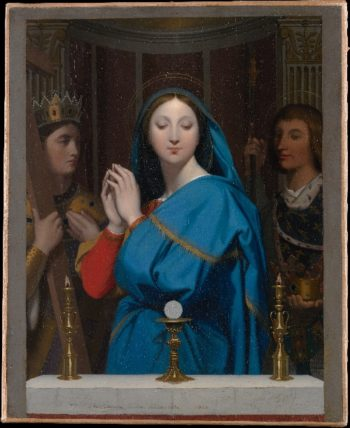 The Virgin Adoring the Host (1852) | Jean-Auguste-Dominique Ingres | oil painting