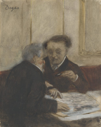 At the Cafe Chateaudun | Hilaire-Germain-Edgar Degas | oil painting