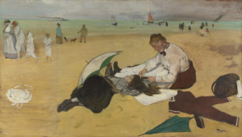 Beach Scene | Hilaire-Germain-Edgar Degas | oil painting