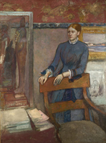 Hane Rouart in her Father's Study | Hilaire-Germain-Edgar Degas | oil painting