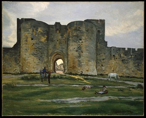 Porte de la Reine at Aigues-Mortes (1867) | Jean-Frederic Bazille | oil painting