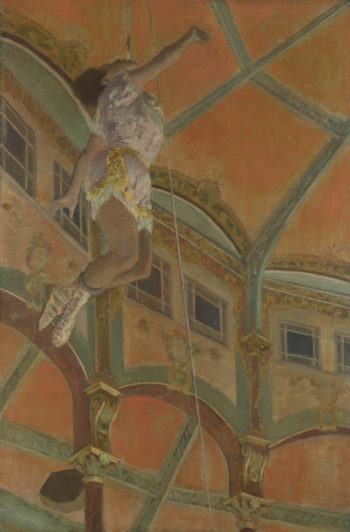 Miss La La at the Cirque Fernando | Hilaire-Germain-Edgar Degas | oil painting