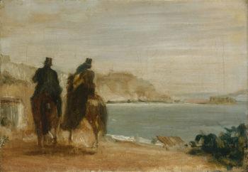 Promenade beside the Sea | Hilaire-Germain-Edgar Degas | oil painting