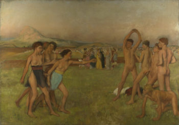 Young Spartans Exercising | Hilaire-Germain-Edgar Degas | oil painting