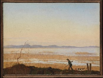 An Evening beside Lake Arreso (ca 1837) | Johan Thomas Lundbye | oil painting