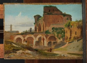 The Basilica of Constantine Rome (1821) | Johann Adam Klein | oil painting