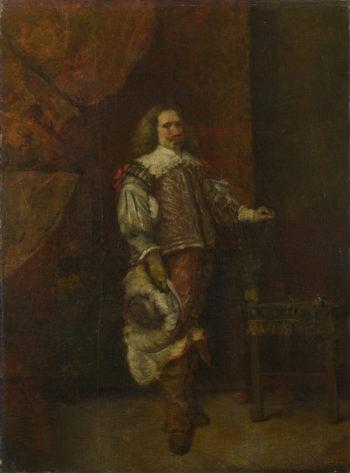 A Man in 17th-Century Spanish Costume | Ignacio de Leon y Escosura | oil painting