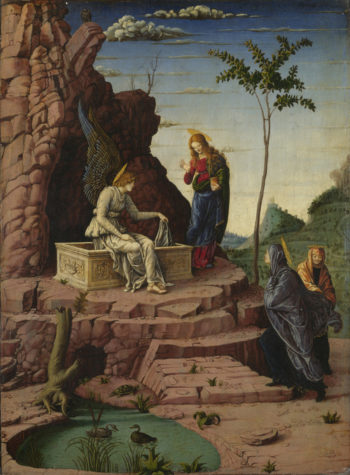 The Maries at the Sepulchre | Imitator of Andrea Mantegna | oil painting