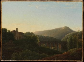 The Bridge at La Cava Kingdom of Naples | Joseph Bidauld | oil painting