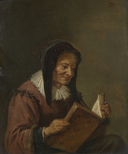 An Old Woman Reading | Imitator of David Teniers the Younger | oil painting