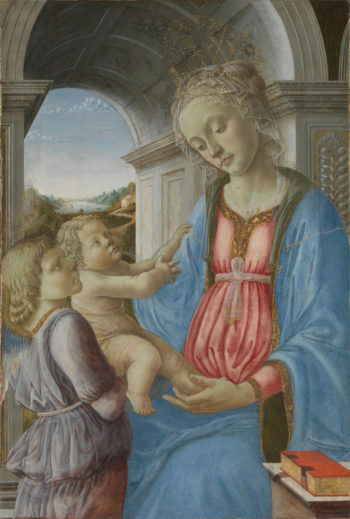 The Virgin and Child with an Angel | Imitator of Fra Filippo Lippi | oil painting