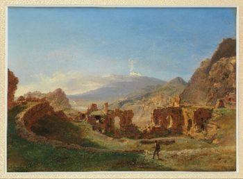 The Roman Theater Taormina (1825) | Josephine Sarazin de Belmont | oil painting