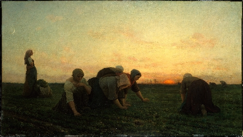 The Weeders (1868) | Jules Breton | oil painting