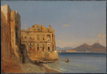 The Palace of DonnAnna Naples (1843) | Jules Coignet | oil painting