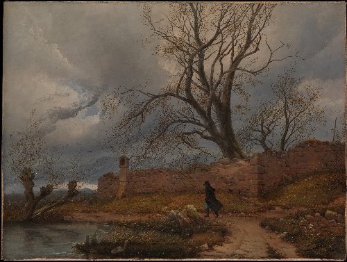 Wanderer in the Storm (1835) | Julius von Leypold | oil painting
