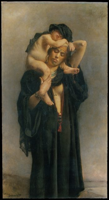 An Egyptian Peasant Woman and Her Child (1869-70) | Leon Bonnat | oil painting