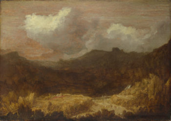 A Mountainous Landscape | Imitator of Hercules Segers | oil painting