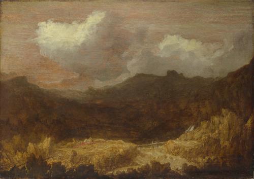 A Mountainous Landscape | Imitator of Hercules Segers | oil painting