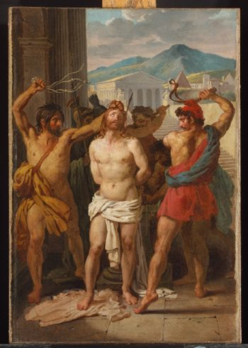 Flagellation of Christ (1816) | Louis-Vincent-Leon Palliere | oil painting