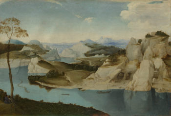 A River among Mountains | Imitator of Pieter Bruegel the Elder | oil painting