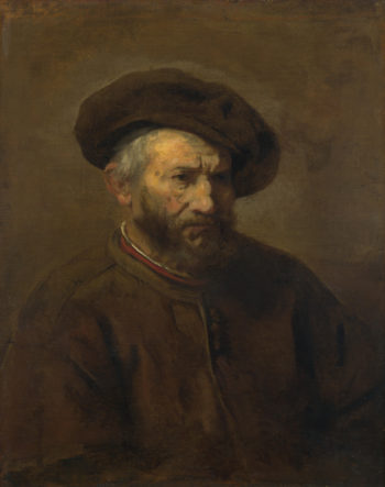 A Study of an Elderly Man in a Cap | Imitator of Rembrandt | oil painting