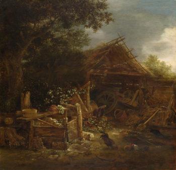 A Farmyard | Isack van Ostade | oil painting