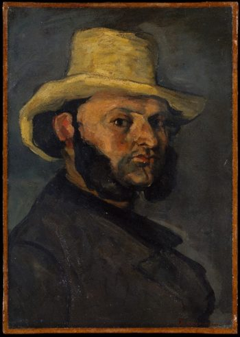 Gustave Boyer in a Straw Hat (1870-71) | Paul Cezanne | oil painting