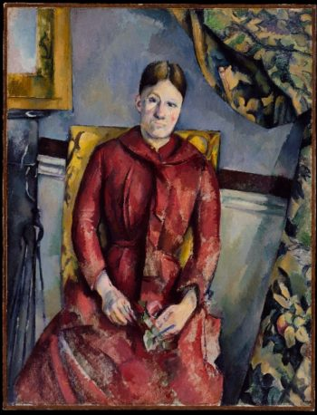Madame Cezanne in a Red Dress (1888-90) | Paul Cezanne | oil painting