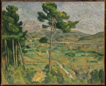 Mont Sainte-Victoire and the Viaduct of the Arc River Valley (1882-85) | Paul Cezanne | oil painting