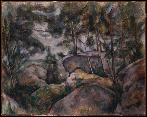 Rocks in the Forest (1890s) | Paul Cezanne | oil painting