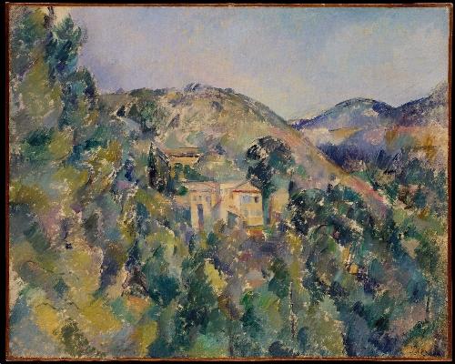 View of the Domaine Saint-Joseph (late 1880s) | Paul Cezanne | oil painting