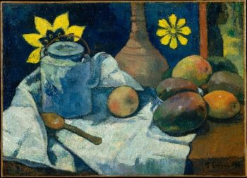 Still Life with Teapot and Fruit (1896) | Paul Gauguin | oil painting
