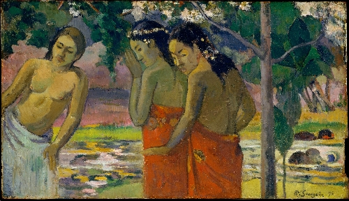 Three Tahitian Women (1896) | Paul Gauguin | oil painting