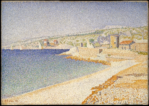 The Jetty at Cassis Opus 198 (1889) | Paul Signac | oil painting