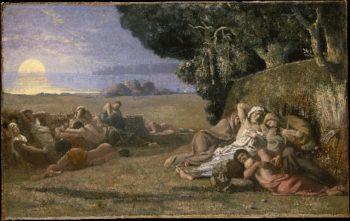 Sleep (ca 1867-70) | Pierre Puvis de Chavannes | oil painting