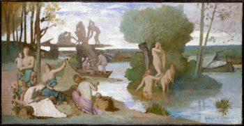 The River (ca 1864) | Pierre Puvis de Chavannes | oil painting