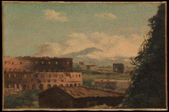 View of the Colosseum Rome | Pierre-Henri de Valenciennes | oil painting