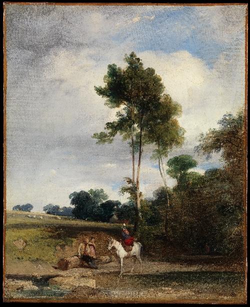 Roadside Halt (1826)   Richard Parkes Bonington   oil painting