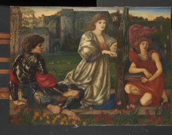 The Love Song (1868-77) | Sir Edward Burne-Jones | oil painting