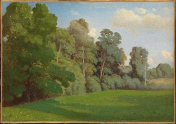 Edge of a Wood (ca 1850)   Theodore Caruelle dAligny   oil painting
