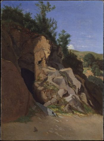 Landscape with a Cave | Theodore Caruelle dAligny | oil painting