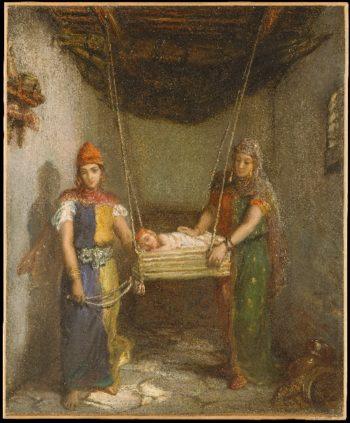 Scene in the Jewish Quarter of Constantine (1851) | Theodore Chasseriau | oil painting