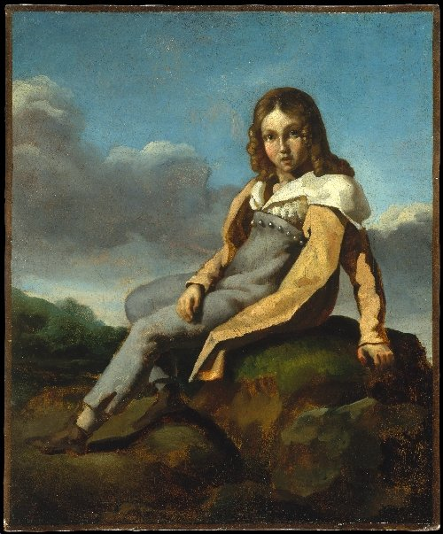 Alfred Dedreux as a Child (ca 1819-20) | Theodore Gericault | oil painting